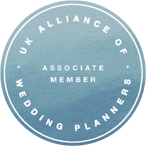 Associate Member of the UK Alliance of Wedding Planners